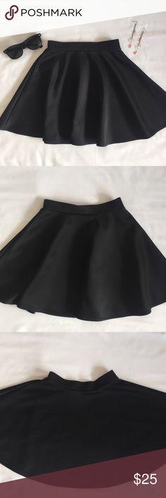 Black Frenchi Skater Skirt Like new, washed but never worn black Frenchi skater skirt. Frenchi Skirts Circle & Skater