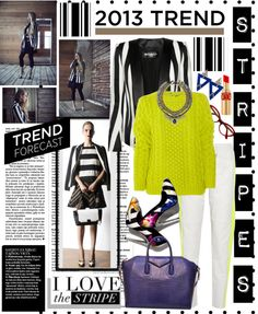 """""""2013 Trend: STRIPES"""" by emilymiller ❤ liked on Polyvore"""
