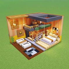 Minecraft Mansion, Minecraft Cottage, Easy Minecraft Houses, Minecraft House Tutorials, Minecraft Room, Minecraft Plans, Minecraft House Designs, Amazing Minecraft, Minecraft Blueprints