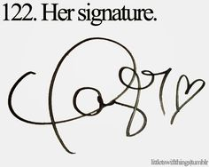 Little Taylor Swift things! Such a cute signature!