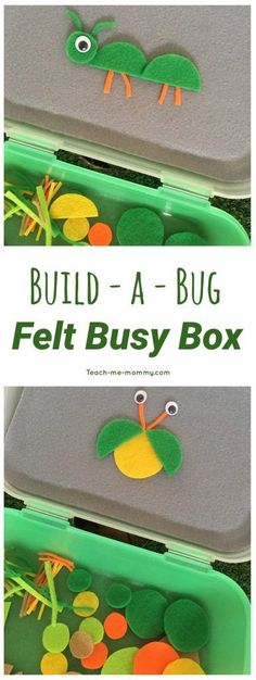 a Bug Busy Box Build a Bug Busy Box to keep preschoolers occupied while learning with this reusable invitation to play!Build a Bug Busy Box to keep preschoolers occupied while learning with this reusable invitation to play! Quiet Time Activities, Art Therapy Activities, Infant Activities, Preschool Activities, Indoor Activities, Summer Activities, Family Activities, Science Area Preschool, Science Centers