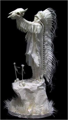 Paper art of Native Americans made by Allen and Patty Eckman More At FOSTERGINGER @ Pinterest ㊙️