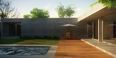 La Forma Moderna en Latinoamérica: CASAS DE CAMPO Utila, Dream House Plans, Flat Roof, Patio, New Homes, Deck, Cottage, How To Plan, Architecture