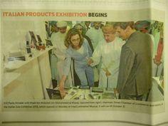 Ci siamo spinti fino in Oman all'esposizione Italian Solo Exhibition 2013 e siamo finiti sulle prime pagine del giornale.