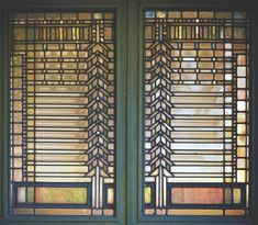 Frank Lloyd Wright, Light Screen, Darwin D. Martin House, Buffalo, New York, c. 1903. Pair of pier casement windows.