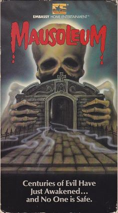 'Centuries of evil have just been awakened' Mausoleum is a 1983 American supernatural horror feature film directed by Michael Dugan from a screenplay by producers Robert Barich and Robert … Horror Movie Posters, Movie Poster Art, Horror Films, Horror Art, Horror Books, Horror Comics, Retro Videos, Classic Horror Movies, Classic Monsters