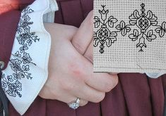 Now I want to add ruffled, blackwork cuffs to something!