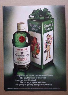 vintage Tanqueray print ad advertisement alcohol gin liquor london england