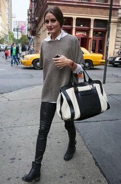 Leather and big bag
