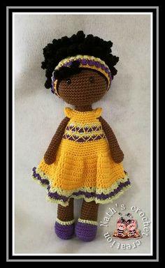 Chula Crocheted Toys Amigurumi Doll Crochet Dolls Knitting And Crocheting Softies Amigurumi Cloth Art Dolls Plushies Crochet Dolls Free Patterns, Crochet Doll Pattern, Doll Patterns, Crochet Patterns Amigurumi, Amigurumi Doll, Crochet Crafts, Crochet Projects, Confection Au Crochet, African Dolls