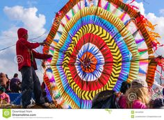 Boy & Colorful Kite, All Saints' Day, Guatemala Editorial Stock ...