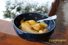 Recette traditionnelle de Pommes flambées à la chartreuse - Cooking Out Dessert Parfait, Chartreuse, Cantaloupe, Fruit, Desserts, Food, Cooker Recipes, Apples, Tailgate Desserts