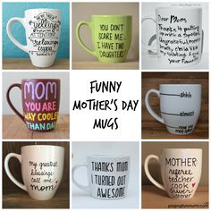 Funny+Mother's+Day+Mugs!+Love+these+fun+gift+ideas!