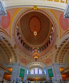 Dome Washington State Capitol   by rgb48, via Flickr Washington State Capitol, Evergreen State, Capitol Building, Seattle Seahawks, Great View, Olympia, Ceilings, Big Ben, Architecture Design