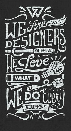WE ARE DESIGNERS by Javi Bueno, via Behance