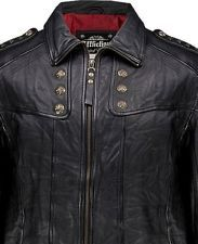 Affliction® Black Leather Hand Numbered Studded KEEPER Motorcycle Jacket 2XL NWT