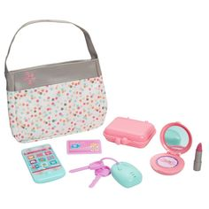 Perfectly Cute Just Like Mommy Baby Doll Diaper Bag Set with Accessories Baby Dolls For Kids, Little Girl Toys, Cute Baby Dolls, Baby Girl Toys, Toys For Girls, Kids Toys, American Girl Accessories, Baby Doll Accessories, Baby Doll Diaper Bag