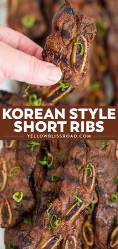 Grilled Korean Short Grilled Korean Short Ribs are so tender and full of flavor! Marinated in a tangy Kalbi style marinade for hours this juicy short rib recipe is a sure hit! Short Ribs In Oven, Kalbi Short Ribs, Kalbi Ribs, Grilled Short Ribs, Pork Ribs, Pork Short Ribs Recipe Oven, Fried Baby Back Ribs Recipe, Recipe For Short Ribs, Barbecue
