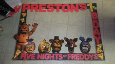 DIY Five Nights at Freddy's photo booth frame
