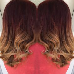 Blonde and red ombré