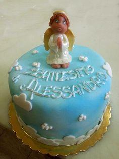 #cake #battesimo con angelo. Torta della pasticceria La Mimosa di http://www.simocakedesigner.it