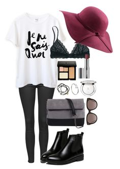 """""""Untitled #57"""" by juliettepep ❤ liked on Polyvore featuring Topshop, 7 Chi, Feather & Stone, Cartier, Bobbi Brown Cosmetics, Guerlain, CÉLINE, Madewell and Clinique"""