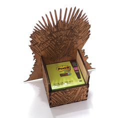 Game of Thrones Desk Organizer - Iron Throne - Laser cut, laser engraved. Perfect gift, memorabilia or collectible