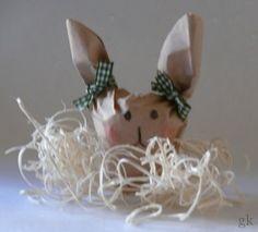 gkkreativ: Hasen aus Filtertüten basteln