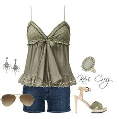 Adorable summer outfit would wear different shoes .