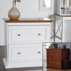 Belham Living Hampton Two Drawer Lateral Wood File Cabinet Black - KG-035-2-BK