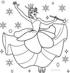 nutcracker coloring pages sugar plum fairy