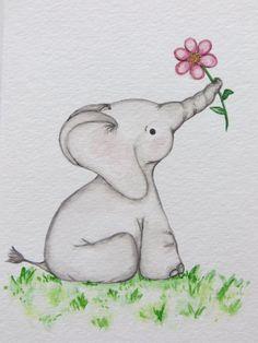 Blue Anemone Flower Watercolor Greetings Card by cardsbymormorjan
