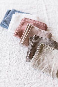 Linen Napkins, Natural Linen, set of 4 | Cloth napkins for a zero waste home