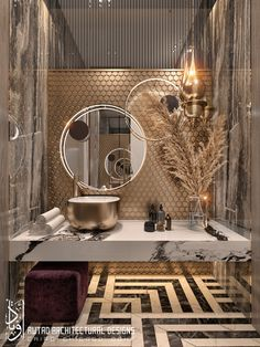 Luxury at its best! Find more luxury inspirations Washroom Design, Bathroom Design Luxury, Modern Bathroom Design, Home Room Design, Home Interior Design, Guest Toilet, Powder Room Design, Luxury Home Decor, Home Decor Bedroom