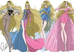 Illustrations by Trendy by Daren J Disney fashion frenzy, Aurora Collection Style Disney, Disney Princess Fashion, Disney Princess Art, Disney Fan Art, Disney Love, Disney Fashion, Sleeping Beauty Maleficent, Disney Sleeping Beauty, Disney Couture