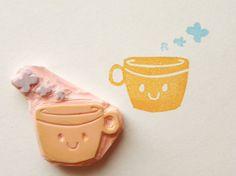 mug with steam puffs