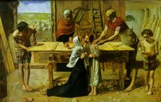 Christ in the House of His Parents, 1849 - John Everett Millais - WikiArt.org