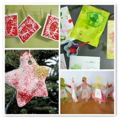 Favorite Holidays Arts & Crafts from the Artful Parent...love love love the top left, making prints with foam plates!