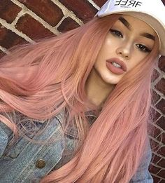 "2,511 Likes, 20 Comments - EverydayWigs®️ (@everydaywigscom) on Instagram: ""How Pretty!!see our sweet babe @megfeather is wearing our EDW1082 :Candy Pink Wavy wig.Girls,do…"""