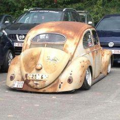Likin' the subtle lowering of the taillights! Vw Rat Rod, Rat Rods, Bugs, Kdf Wagen, Hot Vw, Vw Engine, Vw Classic, Beetle Car, Vw Vintage