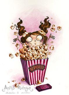 Popcorn Girl by maina.deviantart.com on @deviantART