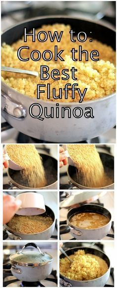 How to cook the best fluffy quinoa over the stove!