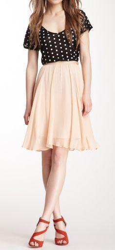 Polka dots & flouncy skirt