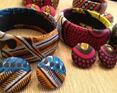Items similar to Kente cloth bangle on Etsy. , via Etsy.
