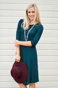 Kara Thermal Midi Dress In Hunter Green