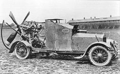 "1915 Sizaire-Berwick ""Wind Wagon""    -----The ""Wind Wagon"". R.N.A.S. squadrons were being withdrawn from the Western Front and sent to Africa and the Near East, where the terrain wasn't suited to conventional cars. Only one was made, and it was only tested in England."