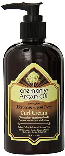 one 'n only Argan Oil Curl Cream Derived from Moroccan Argan Tress, 10 Ounce -- This is an Amazon Affiliate link. Details can be found by clicking on the image.