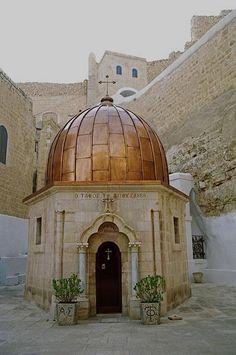 Israel - Het Mar Saba Monastery in de Judean Desert nabij Bethlehem. Het is een van de oudste nog bewoonde kloosters van de Wereld