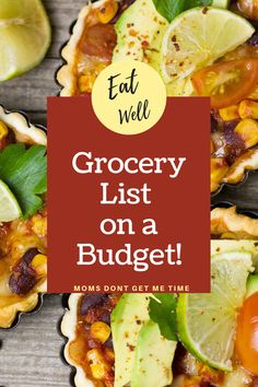 Food is the biggest expense in your budget that you can control.  Switching a couple things and planning is the best thing you can do for your family.  Save money and Eat Well with a few little tips and tricks.  This is my basic grocery list on a budget.