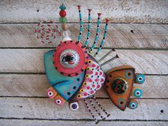 Twisted Fish 130 - Found Object Wall Art by Fig Jam Studio. $65.00, via Etsy.